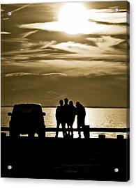 Sunset Silhouette Acrylic Print by Vicki Jauron