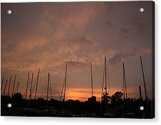 Sunset Sky Annapolis Acrylic Print by Valia Bradshaw