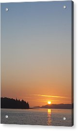 Sunset With The Mountains Of Vancouver Acrylic Print by Taylor S. Kennedy