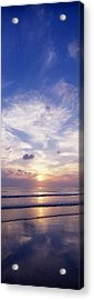 Sunsets Over The Beach, Magheraroarty Acrylic Print by The Irish Image Collection