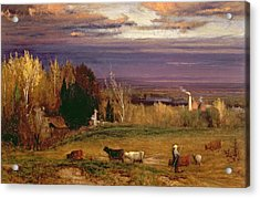 Sunshine After Storm Or Sunset Acrylic Print by George Snr Inness
