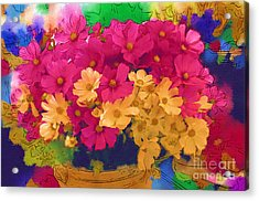 Sunshine In A Basket Acrylic Print by Marion Headrick