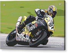 Superbike Racer II Acrylic Print by Clarence Holmes