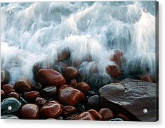Superior On The Rocks Acrylic Print by Bill Morgenstern