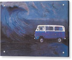 surf Bus Acrylic Print by Sharon Poulton