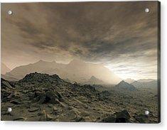 Surface Of Venus, Artwork Acrylic Print by Detlev Van Ravenswaay