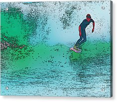 Surfing Acrylic Print by Star Ship