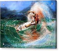 Surfscape 03 Acrylic Print by Miki De Goodaboom