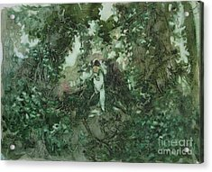 Surprised Bather Acrylic Print by Elizabeth Carr