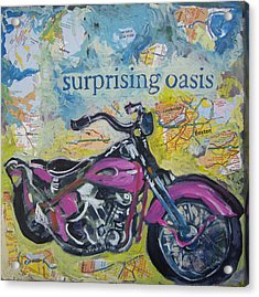 Surprising Oasis Acrylic Print by Tilly Strauss