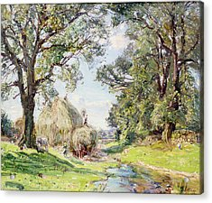 Surrey Landscape  Acrylic Print by Edmund George Warren