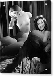Susan Hayward, Ca. 1952 Acrylic Print by Everett