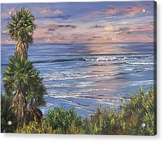 Swamis Sunset Acrylic Print by Lisa Reinhardt