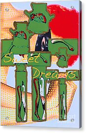 Sweet Dreams Jesus Acrylic Print by Ricky Sencion