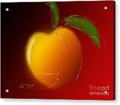 Sweet Peach 1 Acrylic Print by Andee Design