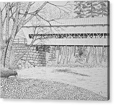 Swift River Bridge Acrylic Print by Tim Murray
