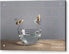 Swimming Pool Acrylic Print by Nailia Schwarz