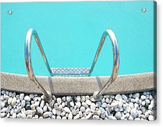 Swimming Pool With White Pebbles Acrylic Print by Lawren