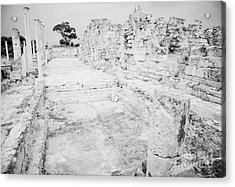 Swimming Pools In The Gymnasium And Baths In The Ancient Site Of Old Roman Villa Salamis Acrylic Print by Joe Fox