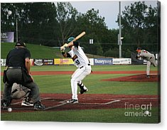 Swing Batter Acrylic Print by Roger Look