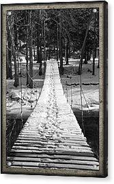 Swinging Cable Foot Bridge Acrylic Print by John Stephens