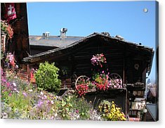 Swiss Chalet Interlaken Acrylic Print by Marilyn Dunlap