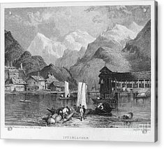 Switzerland: Interlachen Acrylic Print by Granger