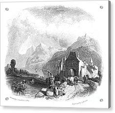 Switzerland: Villeneuve Acrylic Print by Granger
