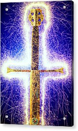 Sword With Sparks Acrylic Print by Garry Gay
