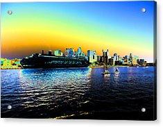 Sydney In Color Acrylic Print by Douglas Barnard