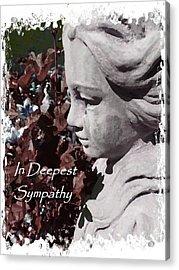 Sympathy Angel Card Acrylic Print by Cindy Wright