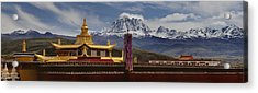 Tagong Si Monastery Buddhist Temple Acrylic Print by Phil Borges