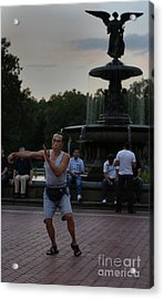 Tai Chi In The Park Acrylic Print by Lee Dos Santos