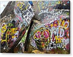 Talking Rocks Close Acrylic Print by Susan Leggett