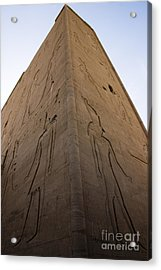 Tall Wall At Edfu Acrylic Print by Darcy Michaelchuk