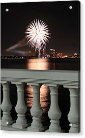 Tampa Bay Fireworks Acrylic Print by David Lee Thompson