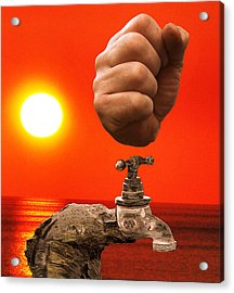 Tap Out Acrylic Print by Eric Kempson