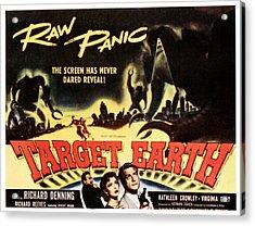 Target Earth, Bottom Center Kathleen Acrylic Print by Everett