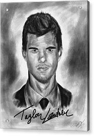 Taylor Lautner Sharp Acrylic Print by Kenal Louis