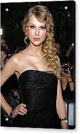 Taylor Swift At Arrivals For Time 100 Acrylic Print by Everett