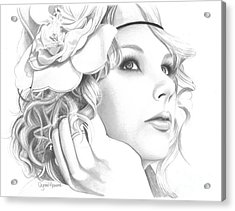 Taylor Swift Acrylic Print by Crystal Rosene