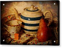 Tea And Pear Acrylic Print by Toni Hopper