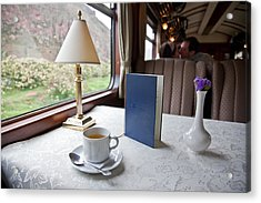 Tea Is Served By Peru Rail On The Way Acrylic Print by Michael &Amp Jennifer Lewis