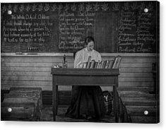 Teachers Rules  Acrylic Print by Jerry Cordeiro