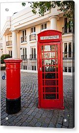 Telephone And Post Box Acrylic Print by Dawn OConnor