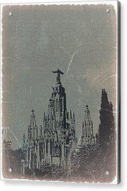 Temple Expiatory Acrylic Print by Naxart Studio