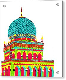 Temple From India Acrylic Print by Catarina Bessell
