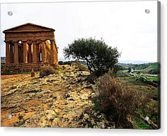 Temple Of Concordia 2 Acrylic Print by Steve Bisgrove