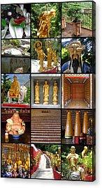 Hong Kong Acrylic Print featuring the photograph Ten Thousand Buddhas Monastery by Roberto Alamino