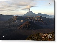 Tengger Caldera With Erupting Mount Acrylic Print by Martin Rietze